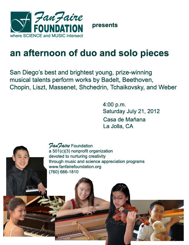Kids Playing For Kids Play Classical Music at Casa de Manana
