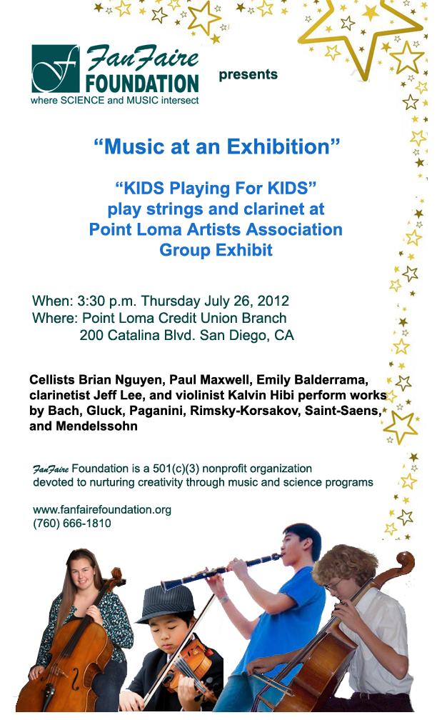 Classical Music at Point Loma Artists Association Group Exhibit
