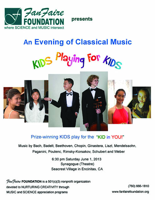 poster-KIDS Playing For KIDS Concert at Seacrest Village